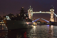 German frigate FGS Schleswig-Holstein in London
