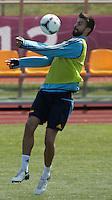 EURO 2012 - POLAND - Gniewino - 13 JUNE 2012 - Spain National Team official MD-1 training. Spanish defender Gerard Pique.