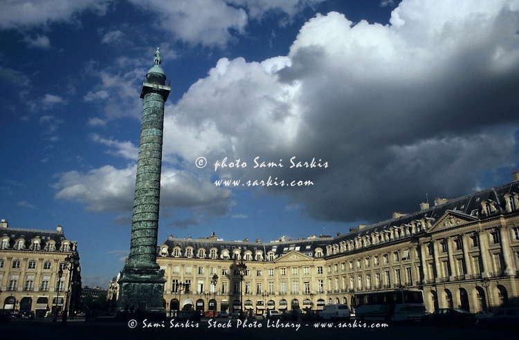 Statue on top of the column on Place Vendôme, Paris, France.