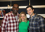 """Rehearsals for Ragtime starring One Life To Live Kerry Butler """"Claudia Reston"""", As The World Turns' Matt Cavenaugh """"Adam Munson"""" and One Life To Live with All My Children Norm Lewis """"Keith McLean"""" and currently on Scandal (L) on February 11, 2013 for a concert at Avery Fisher Hall, New York City, New York on Monday February 18, 2013. (Photo by Sue Coflin/Max Photos)"""