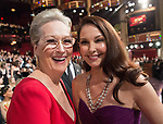 04.03.2018; Hollywood, USA: MERYL STREEP AND ASHLEY JUDD<br /> at the 90th Annual Academy Awards held at the Dolby&reg; Theatre in Hollywood.<br /> Mandatory Photo Credit: AMPAS/Newspix International<br /> <br /> IMMEDIATE CONFIRMATION OF USAGE REQUIRED:<br /> Newspix International, 31 Chinnery Hill, Bishop's Stortford, ENGLAND CM23 3PS<br /> Tel:+441279 324672  ; Fax: +441279656877<br /> Mobile:  07775681153<br /> e-mail: info@newspixinternational.co.uk<br /> Usage Implies Acceptance of Our Terms &amp; Conditions<br /> Please refer to usage terms. All Fees Payable To Newspix International