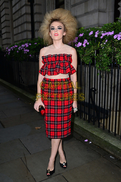 Tallia Storm attends the Scottish Fashion Awards 2014, 8 Northumberland Avenue, Northumberland Avenue, on Monday September 01, 2014 in London, England, UK. <br /> CAP/JOR<br /> &copy;Nils Jorgensen/Capital Pictures