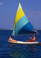 Couple on sailboat, Jamaica
