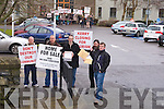 Shamus Brown, Liam Kelly, Aidan Linnane, Shay Buckley Gerald Cronin and members of the Wind farm protest handed in a signed petition to the County Buildings on Monday