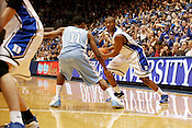 Nolan Smith maintains control of the ball the last regular season game against UNC at Cameron Indoor Stadium in Durham, N.C., Sat., March 6, 2010. Smith ended the evening with 20 points. .