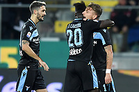 Felipe Caicedo of Lazio celebrates with Ciro Immobile and Luis Alberto after scoring a goal during the Serie A 2018/2019 football match between Frosinone and Lazio at stadio Benito Stirpe, Frosinone, February 4, 2019 <br />  Foto Andrea Staccioli / Insidefoto