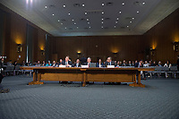 """United States Senate Select Committee on Intelligence conducts an open hearing titled """"Disinformation: A Primer in Russian Active Measures and Influence Campaigns"""" on Capitol Hill in Washington, DC on Thursday, March 30, 2017.  Testifying from left to right: Kevin Mandia, Chief Executive Officer, FireEye; US Army General (Retired) Keith B. Alexander, former Director, National Security Agency (DIRNSA), former Chief of the Central Security Service (CHCSS) and former Commander of the United States Cyber Command, and current Chief Executive Officer and President, IronNet Cybersecurity; and Thomas Rid, Professor, Department of War Studies, King's College,  London. Photo Credit: Ron Sachs/CNP/AdMedia"""