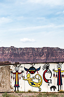 A Navajo cabin along highway 89A near Navajo Bridge, below Vermilion Cliffs National Monument.<br /> Marble Canyon, Arizona.