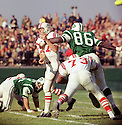 Boston Patriots Mike Taliaferro(13) during a game against the New York Jets on October 27, 1968 at Shea Stadium in Flushing, New York.  The Denver Broncos beat the New York Jets 21-13. Mike Taliaferroi played for 8 season with 3 different teams and was a 1-time Pro Bowler(SportPics)