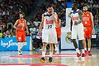 MADRID, ESPAÑA - 11 DE JUNIO DE 2017: Sergio Llull durante el partido entre Real Madrid y Valencia Basket, correspondiente al segundo encuentro de playoff de la final de la Liga Endesa, disputado en el WiZink Center de Madrid. (Foto: Mateo Villalba-Agencia LOF)