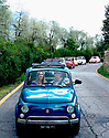 Touring the Tuscan countryside driving a vintage Fiat is a popular thing to do when visiting Italy.  The tours are usually followed by a wine tasting and lunch at a local vineyard.