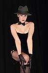 Beautiful young woman, posing like an actress in cabaret show!