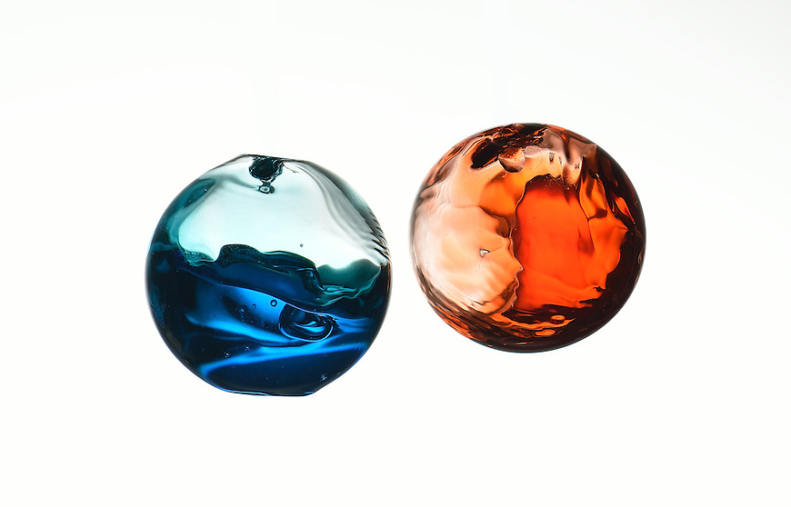 Liquid sphere photographed using high-speed photography.