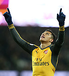Arsenal's Alexis Sanchez celebrates scoring his sides third goal during the Premier League match at the London Stadium, London. Picture date December 3rd, 2016 Pic David Klein/Sportimage