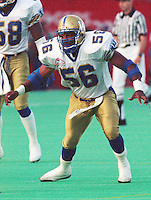 Elfrid Payton Winnipeg Blue Bombers 1992. Copyright photograph Scott Grant