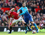Nemanja Matic of Manchester United tackled by Henrikh Mkhitaryan of Arsenal during the premier league match at the Old Trafford Stadium, Manchester. Picture date 29th April 2018. Picture credit should read: Simon Bellis/Sportimage