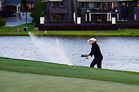 Cristie Kerr (USA) hits from the trap on 18 during a playoff hole with Haru Nomura (JPN) during round 4 of  the Volunteers of America Texas Shootout Presented by JTBC, at the Las Colinas Country Club in Irving, Texas, USA. 4/30/2017.<br /> Picture: Golffile | Ken Murray<br /> <br /> <br /> All photo usage must carry mandatory copyright credit (&copy; Golffile | Ken Murray)