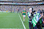 Johnny Buckley leaves the field after a black card in the dying seconds of the game  in the All-Ireland Football Final against Donegal in Croke Park 2014.<br /> Photo: Don MacMonagle<br /> <br /> <br /> Photo: Don MacMonagle <br /> e: info@macmonagle.com
