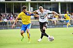 2018-07-11 / Voetbal / Seizoen 2018-2019 / Union Saint-Gilloise - KV Mechelen / Gustav Engvall (r. KVM) met Pietro Perdichizzi <br /> <br /> ,Foto: Mpics