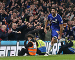 Chelsea's Diego Costa celebrates scoring his sides fourth goal during the Premier League match at Stamford Bridge Stadium, London. Picture date December 31st, 2016 Pic David Klein/Sportimage