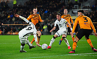 Swansea City's Rhian Brewster scores his side's fourth goal <br /> <br /> Photographer Chris Vaughan/CameraSport<br /> <br /> The EFL Sky Bet Championship - Hull City v Swansea City -  Friday 14th February 2020 - KCOM Stadium - Hull<br /> <br /> World Copyright © 2020 CameraSport. All rights reserved. 43 Linden Ave. Countesthorpe. Leicester. England. LE8 5PG - Tel: +44 (0) 116 277 4147 - admin@camerasport.com - www.camerasport.com
