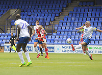Fleetwood Town's Kyle Demsey scores his sides first goal  <br /> <br /> Photographer Mick Walker/CameraSport<br /> <br /> Football Pre-Season Friendly - Tranmere Rovers  v Fleetwood Town  - Saturday 21st July 2018 - Prenton Park - Tranmere<br /> <br /> World Copyright &copy; 2018 CameraSport. All rights reserved. 43 Linden Ave. Countesthorpe. Leicester. England. LE8 5PG - Tel: +44 (0) 116 277 4147 - admin@camerasport.com - www.camerasport.com