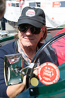 MILLE MIGLIA HYSTORICAL CAR RACE 2014 IN THE PICTURE THE SINGER OF AC/DC BRIAN JOHNSON<br />