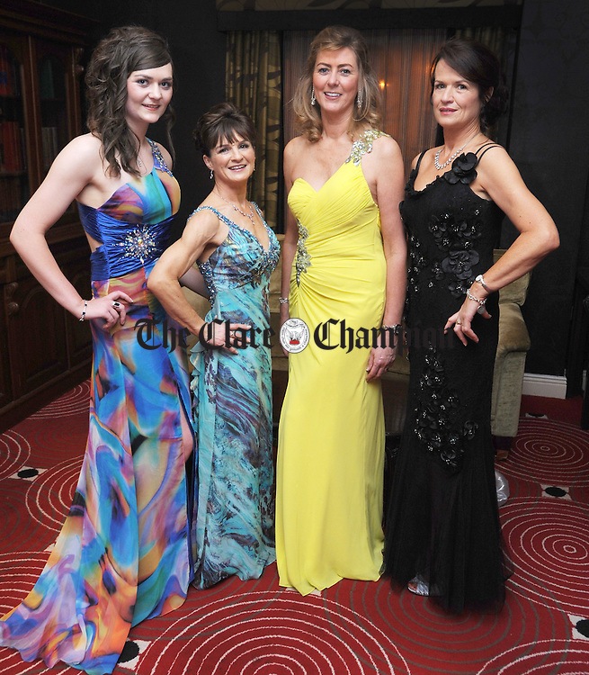 Aisling Mc Grath, Ennis; Pauline Burke, Tulla; Jackie Mc Grath, Ennis, and Susan Ryan from Newmarket pictured during the County Clare Hunt Ball at the Temple Gate Hotel in Ennis. Photograph by Declan Monaghan
