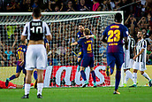 12th September 2017, Camp Nou, Barcelona, Spain; UEFA Champions League Group stage, FC Barcelona versus Juventus; Ivan Rakitic of FC Barcelona and Leo Messi of FC Barcelona celebrates the 2-0