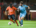 19/08/2010   Copyright  Pic : James Stewart.sct_jsp004_dundee_utd_v_aek_athens  .:: PRINCE BAUBEN HOLDS OFF MAKOS GRIGORGIS :: .James Stewart Photography 19 Carronlea Drive, Falkirk. FK2 8DN      Vat Reg No. 607 6932 25.Telephone      : +44 (0)1324 570291 .Mobile              : +44 (0)7721 416997.E-mail  :  jim@jspa.co.uk.If you require further information then contact Jim Stewart on any of the numbers above.........