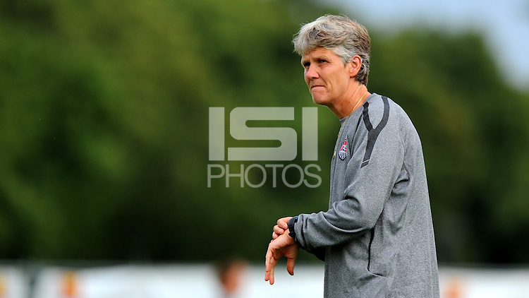 Coach Pia Sundhage during a training session at the FIFA Women's World Cup 2011 in Germany in Dresden, Germany on June 23th, 2011.
