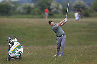 Caolan Rafferty (Dundalk) on the 2nd during Round 4 of the East of Ireland Amateur Open Championship sponsored by City North Hotel at Co. Louth Golf club in Baltray on Monday 6th June 2016.<br /> Photo by: Golffile   Thos Caffrey