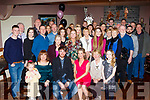Conor Counihan, Ballymac and Maggie McCarthy, Castleisland, seated centre, enjoying their engagement party with family and friends in O'Riada's, Ballymac last Saturday night.