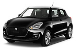 2017 Suzuki Swift GL+ 5 Door Hatchback angular front stock photos of front three quarter view