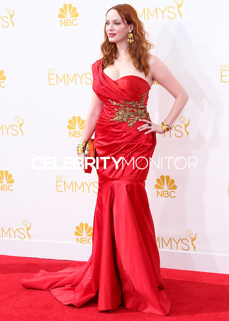 LOS ANGELES, CA, USA - AUGUST 25: Actress Christina Hendricks arrives at the 66th Annual Primetime Emmy Awards held at Nokia Theatre L.A. Live on August 25, 2014 in Los Angeles, California, United States. (Photo by Celebrity Monitor)