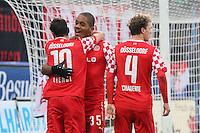 Charlie Benschop (Fortuna) erzielt das 0:2 und jubelt - FSV Frankfurt vs. Fortuna Düsseldorf, Frankfurter Volksbank Stadion