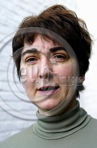 BRUSSELS - BELGIUM - 23 APRIL 2004--Zsuzanna ROKA (R?ka) Hungarian TV journalist-- PHOTO: ERIK LUNTANG / EUP-IMAGES