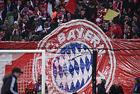 FUSSBALL CHAMPIONS LEAGUE  SAISON 2015/2016 ACHTELFINALE RUECKSPIEL FC Bayern Muenchen  - Juventus Turin      16.03.2016 Die Bayernfans zeigen eine Choreografie in der Suedkurve