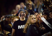 NWA Democrat-Gazette/CHARLIE KAIJO Bentonville High School fans cheer during a football game, Friday, November 2, 2018 at Bentonville High School in Bentonville.