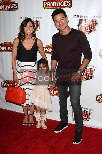 """Courtney Mazza, Mario Lopez<br /> at the """"42nd Street"""" Opening, Pantages, Hollywood, CA 05-31-16<br /> David Edwards/Dailyceleb.com 818-249-4998"""