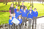 CALENDER: The pupils of the CBS primary school, Tralee launching their 2013 calendar on Friday front l-r: Alex Shibaba, Arek Jaszczynski amd Katie Faggetter. Back l-r: Jane Boyle, Cian Harris, Sharon Preko, Jet Victor, Brendan McMahon, John Goubran, Darra Barry Walsh, Amy O'Connor, Jame Moroney and Sean McCarthy.