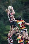 Jamie Chipman claims lineout ball during the ITM Cup round 6 rugby game between Counties Manukau Steelers and Waikato, played at Bayer Growers Stadium pukekohe on Sunday August 7th 2011. Waikato won 22 - 15.