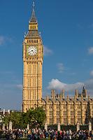 UK, England, London.  Big Ben Clock Tower, Elizabeth Tower.