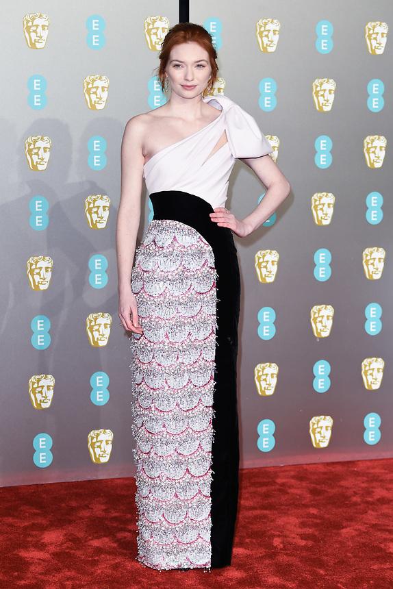 Eleanor Tomlinson<br /> arriving for the BAFTA Film Awards 2019 at the Royal Albert Hall, London<br /> <br /> ©Ash Knotek  D3478  10/02/2019
