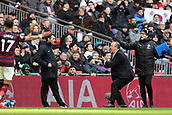 2nd February 2019, Wembley Stadium, London England; EPL Premier League football, Tottenham Hotspur versus Newcastle United; Newcastle United Manager Rafa Benitez appeals to the fourth official for a free kick