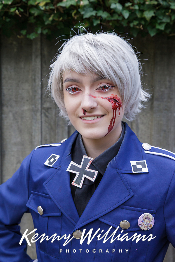 Wounded German Army Soldier, Sakura Con 2017, Seattle, Washington, USA.