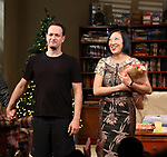 Josh Charles and Young Jean Lee during the Broadway opening night curtain Call of 'Straight White Men' at Hayes Theater on July 23, 2018 in New York City.