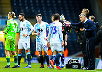 Blackburn Rovers manager Tony Mowbray issues instructions to Bradley Dack during a break in play<br /> <br /> Photographer Alex Dodd/CameraSport<br /> <br /> The EFL Sky Bet Championship - Blackburn Rovers v Norwich City - Saturday 22nd December 2018 - Ewood Park - Blackburn<br /> <br /> World Copyright © 2018 CameraSport. All rights reserved. 43 Linden Ave. Countesthorpe. Leicester. England. LE8 5PG - Tel: +44 (0) 116 277 4147 - admin@camerasport.com - www.camerasport.com