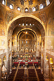 ITALY, Venice. Interior of St. Mark's Basilica in St. Mark's Square.