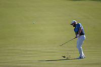 Tyrrell Hatton (ENG) chips on to 18 during round 1 of the Arnold Palmer Invitational at Bay Hill Golf Club, Bay Hill, Florida. 3/7/2019.<br /> Picture: Golffile | Ken Murray<br /> <br /> <br /> All photo usage must carry mandatory copyright credit (© Golffile | Ken Murray)